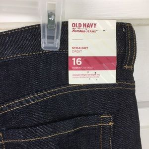 Old Navy youth  Straight cut Jeans Size 16 NWT